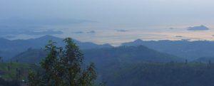 bumba base camp und abendlicher blick auf den kivu-see