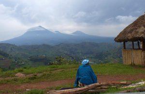 Vulkankette im Grenzgebiet von Uganda und Ruanda