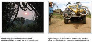 Sonnenaufgang zwischen den meterhohen Kandelaberkakteen – Afrika, wie es im Buche steht. Irgendwie geht es immer weiter und für mein Stahlross findet sich auch auf dem überfülltesten Pickup ein Platz.