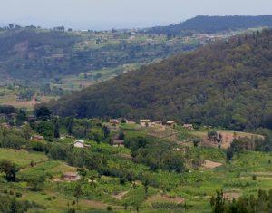Ruanda bei Muhanga, Reisebericht Fahrradtour Ruanda