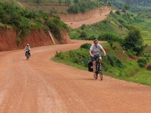 Reisebericht Fahrradtour Ruanda, Piste nach Nyanza